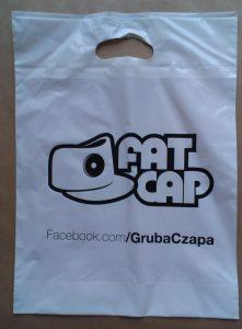 Gruba Czapa - FAT CAP - reklamówki LDPE z logo