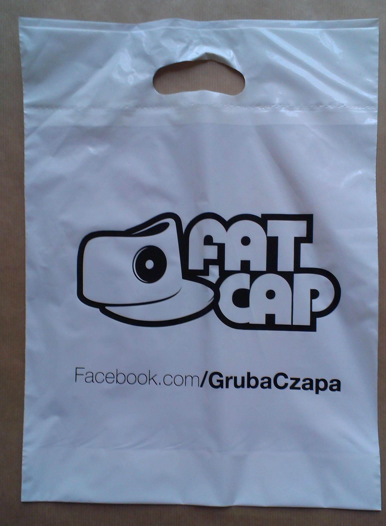 torby foliowe z logo - druk 1 kolor - Fatcap - pracownia kreska - drukarnia